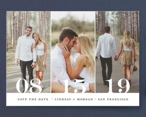Trio Save the Date Card